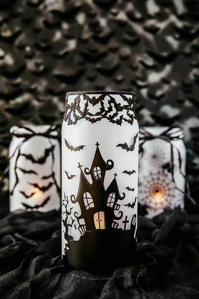 Haunted House Mason Jars