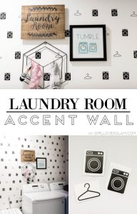 Laundry Room Accent Wall on girllovesglam.com