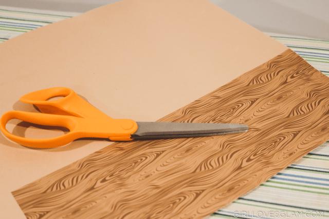 Wood patterned vinyl