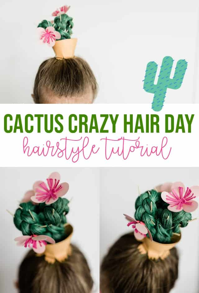 Cactus Crazy Hair Day Hairstyle