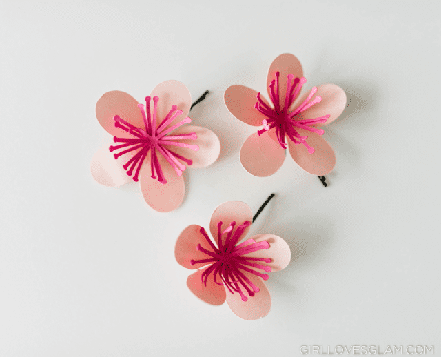 Hair Clips made with Silhouette Cameo