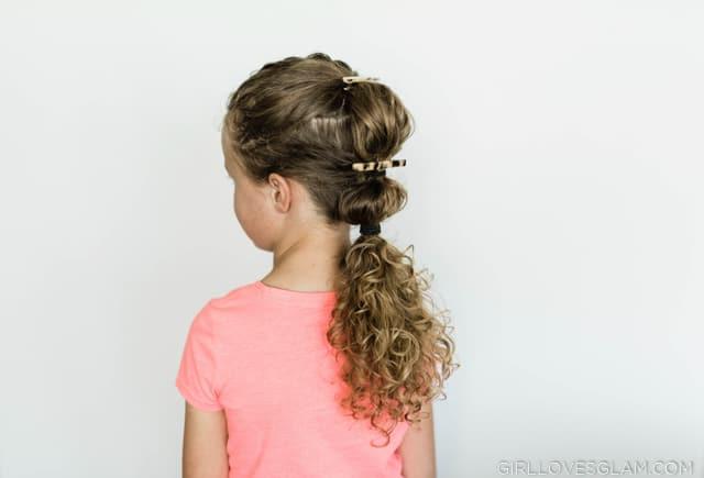 Little Girl Bubble Ponytail