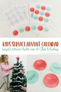 Kids Service Advent Calendar Printable