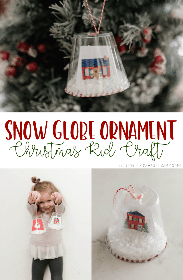 Snow Globe Ornament Christmas Kid Craft on girllovesglam.com