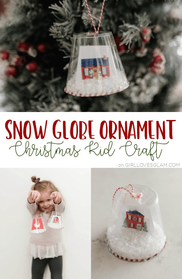 Snow Globe Ornament Christmas Kid Craft on girllovesglam.com