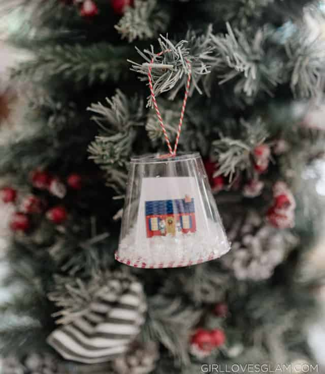 Snow Globe Ornaments from Cups
