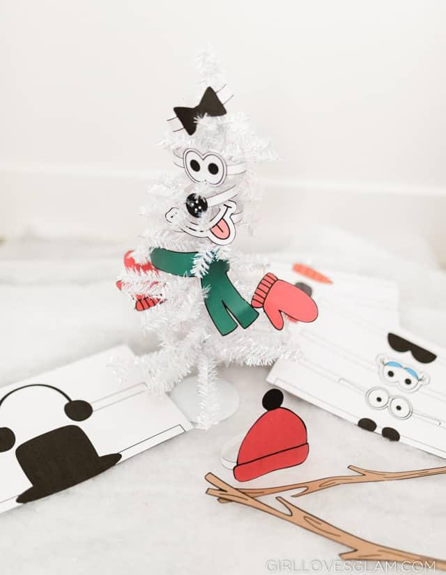 Printable Snowman Activity