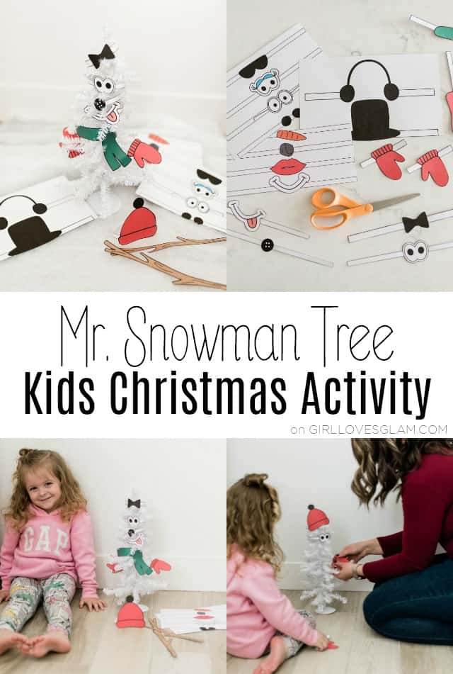 Snowman Tree Kids Christmas Activity on www.girllovesglam.com