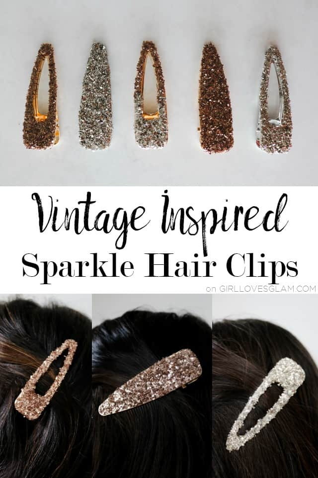 Vintage Inspired Sparkle Hair Clips
