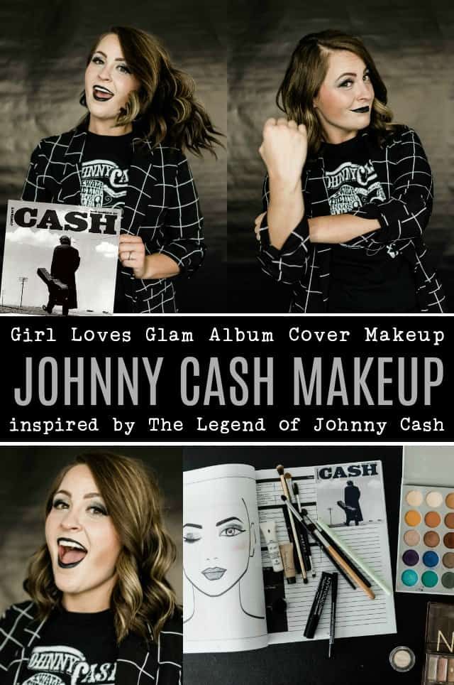 Johnny Cash Album Cover Makeup
