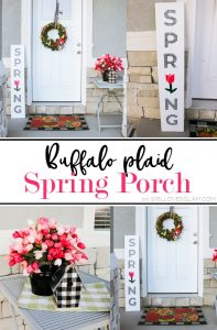 Buffalo Plaid Spring Porch
