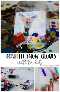 Confetti Snow Globe kid craft on girllovesglam