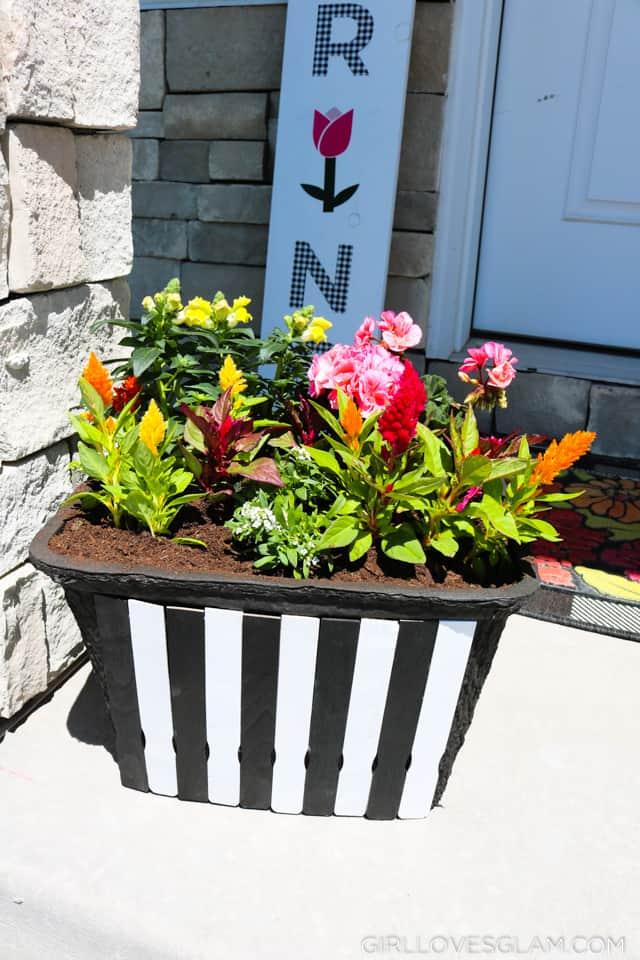 Striped Planter Box