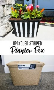 Upcycled Striped Planter Box