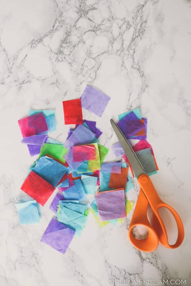 Tissue Paper Kid Craft