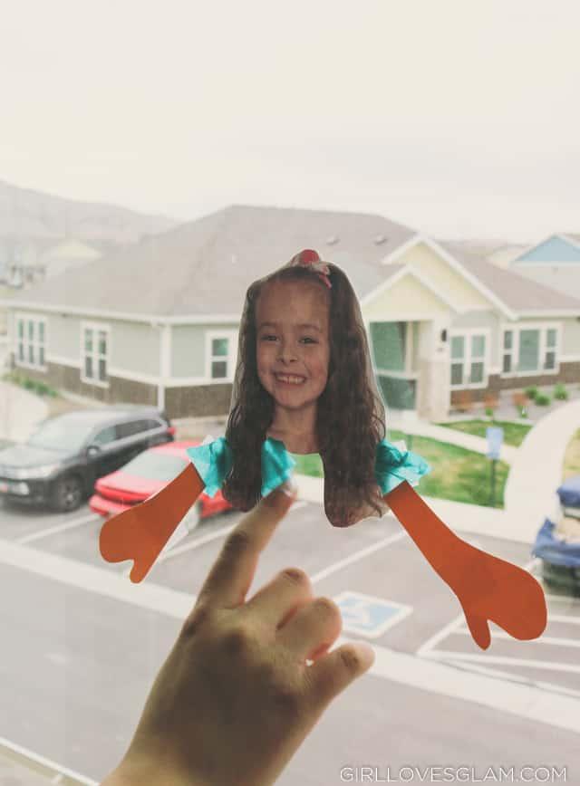 Tissue Paper Suncatcher Paper Doll