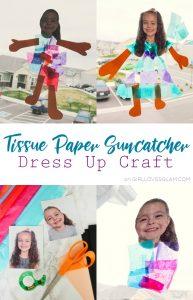 Tissue Paper Suncatcher Dress Up Craft