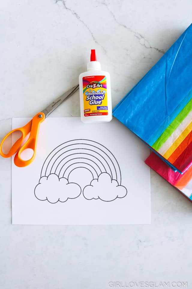 Kid's Craft with Tissue Paper