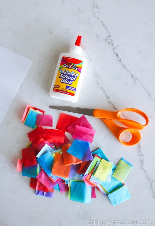 Tissue Paper Kid Activity
