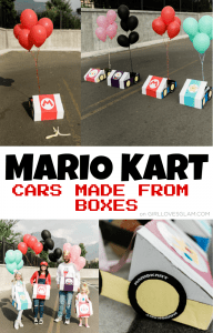 Mario Kart Cars Made From Boxes