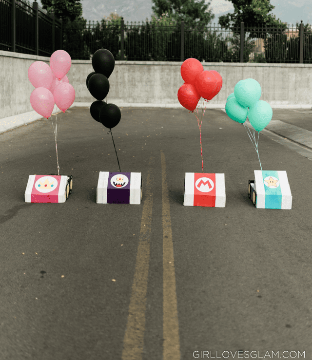 Mario Kart Cars with Balloons