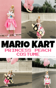 Mario Kart Halloween Princess Peach Costume