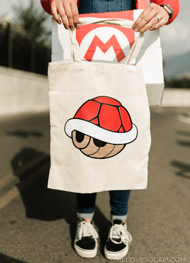 Mario Kart Red Shell Trick or Treat Bag