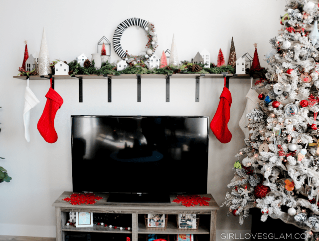 Christmas Mantel Without a Fireplace