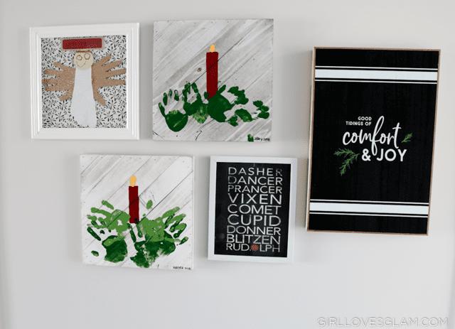 Christmas Kid Artwork Display