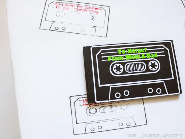 Cassette Inspired Gift Tag