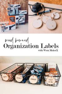 Wood Burned Organization Labels
