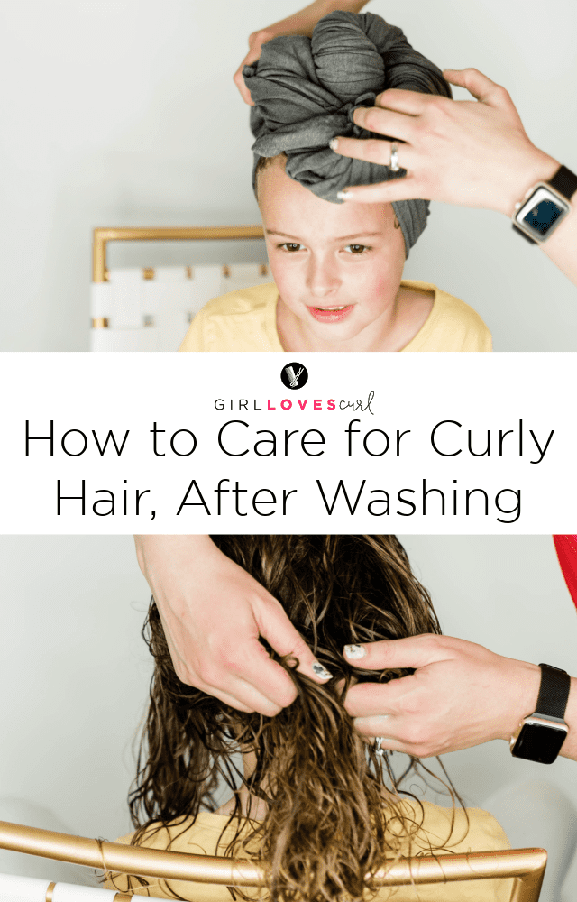How to Care for Curly Hair, After Washing