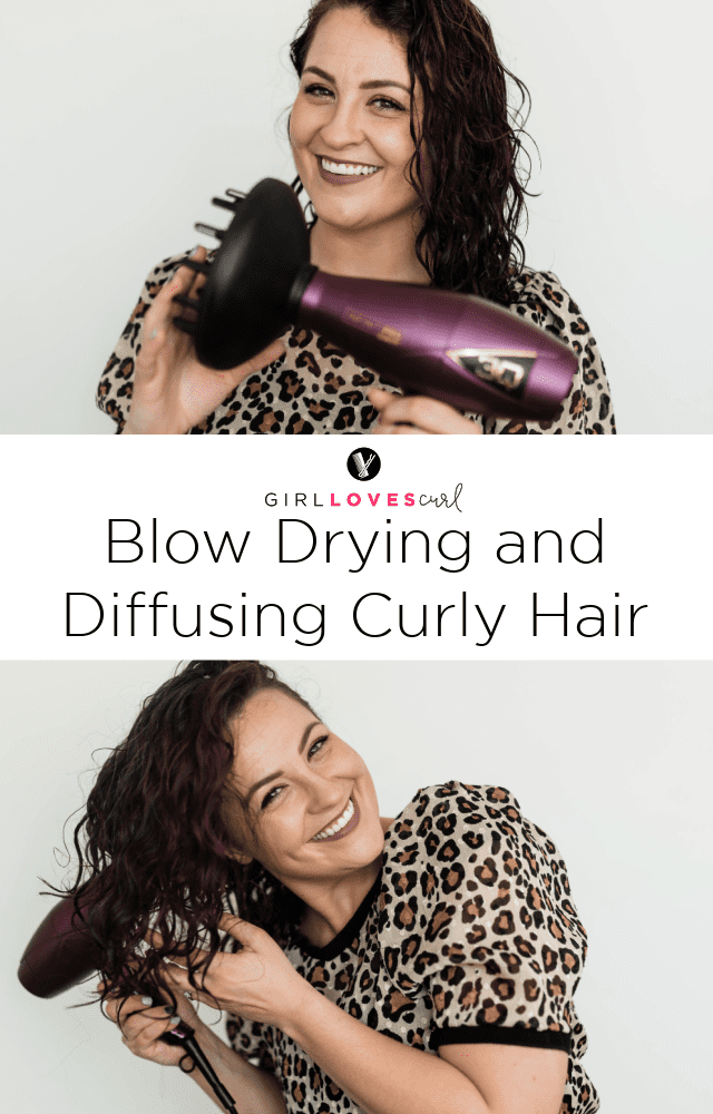 Blow Drying and Diffusing Curly Hair