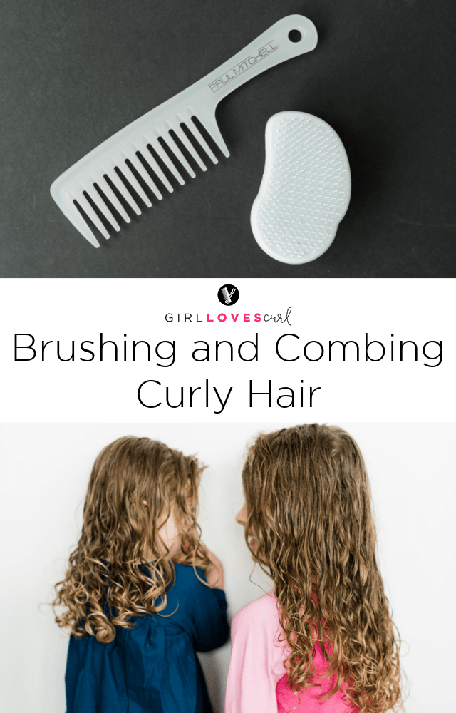 Brushing and Combing Curly Hair