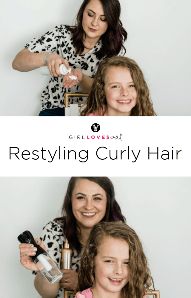 Restyling Curly Hair Between Washes