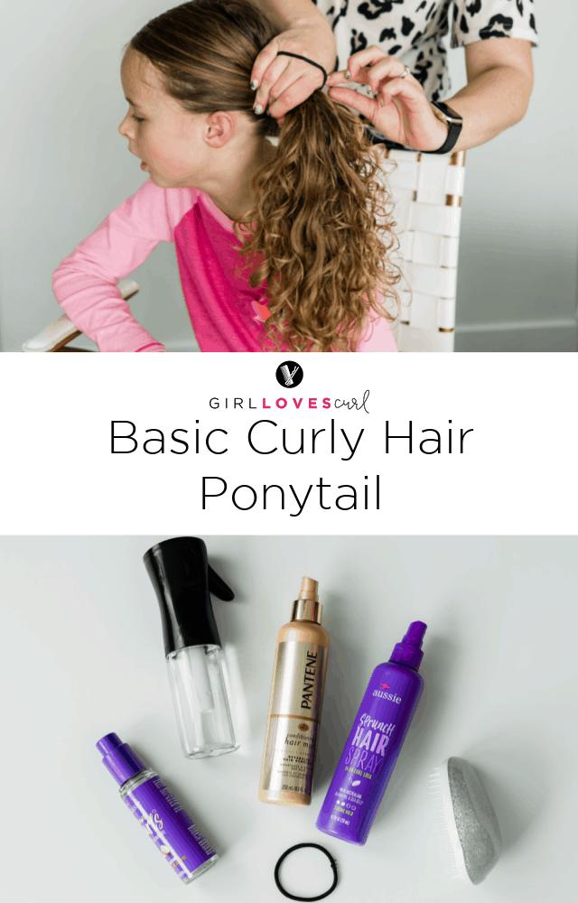 Basic Curly Hair Ponytail on girllovesglam.com