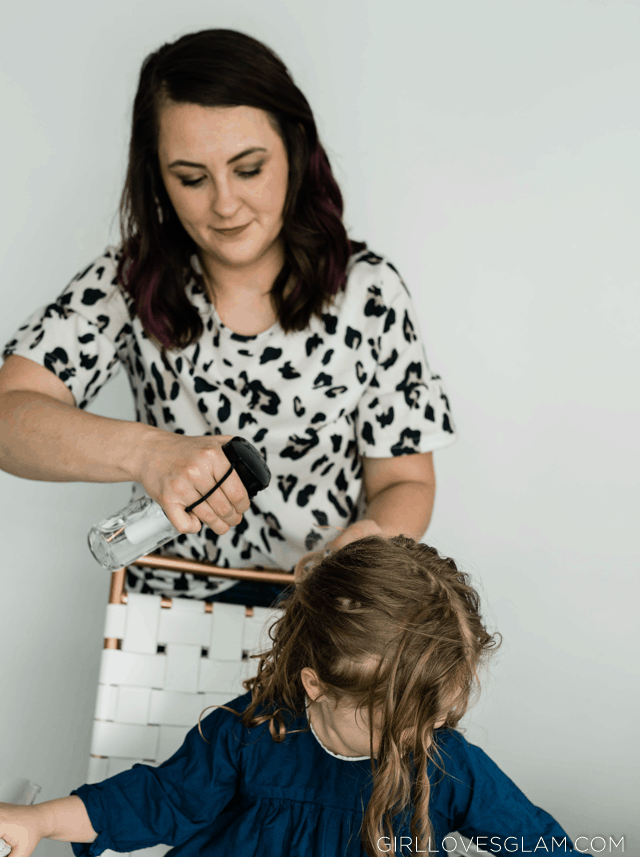 Styling Little Girl Curly Hair