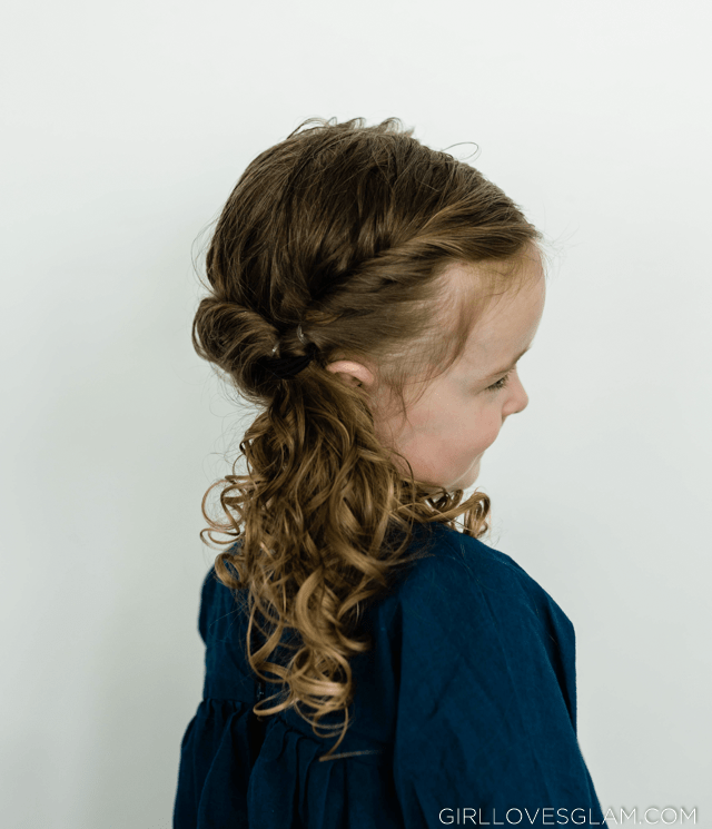 Curly Twisted Ponytail Hairstyle