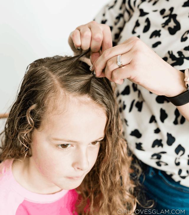 Rope Braid in Curly Hair