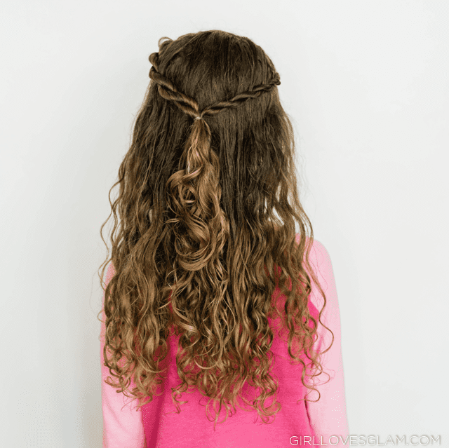 Rope Braid Curly Hairstyle