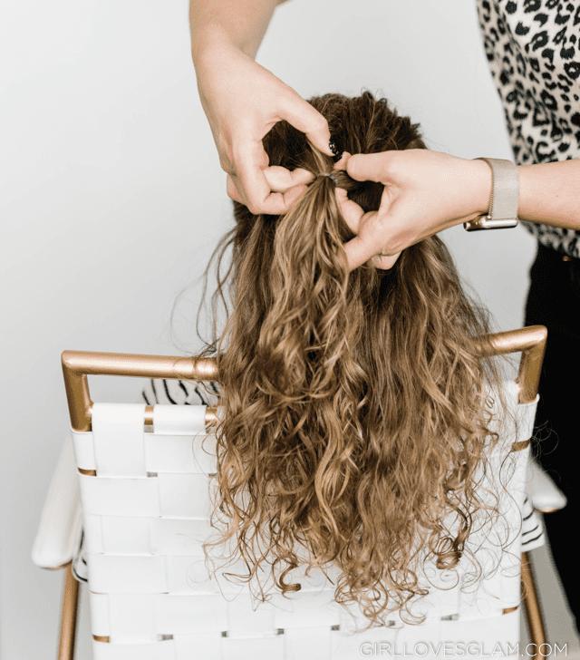 Flip through ponytail