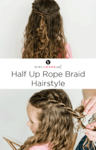 Half Up Rope Braid