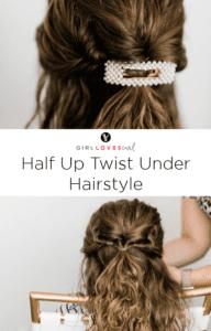 Half Up Twist Under Hairstyle